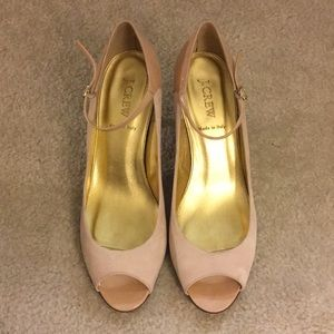 J.Crew Light Pink Peep Toe Pumps